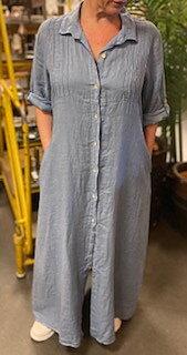 Franca Skjortklänning Jeansblå