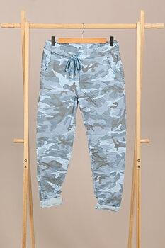 Mirakelbyxan Camouflage Blå