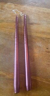 Handstöpta Parljus Metallic Röd 35 cm