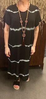 Batikdress Annie  Svart
