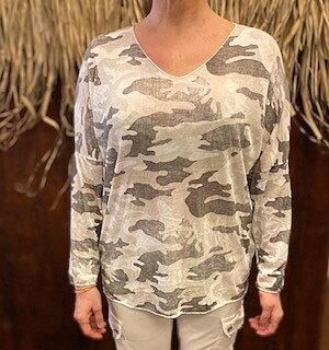 Tröja Camouflage Beige