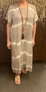 Batikdress Annie  Beige