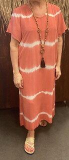 Batikdress Annie  Korall