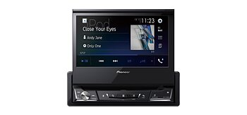 "Pioneer 1DIN CD/DVD, USB/iPod 7"" motoriserad"