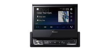 """Pioneer 1DIN CD/DVD, USB/iPod 7"""" motoriserad"""
