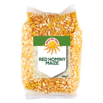 VALLE DEL SOLE Red Hominy Maize 900g