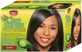 African Pride Olive Miracle Deep Conditioning Anti-Breakage No-lye Relaxer ( Super)