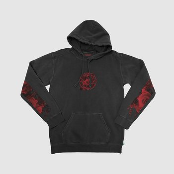 Red Retro Washed Hoodie