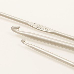 DROPS Basic Virknål Aluminium  15 cm