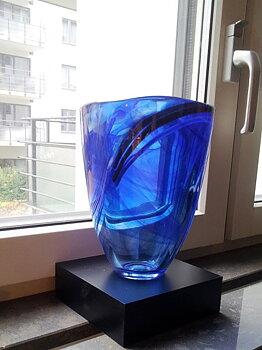 Contrast Vas Blå