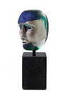 Brains on Base Green Blue Silver  Head
