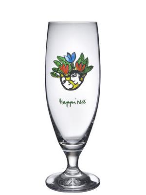 Friendship Happiness Ölglas - Kosta Boda