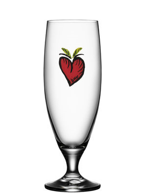 Friendship Hearts Beer Glass - Kosta Boda