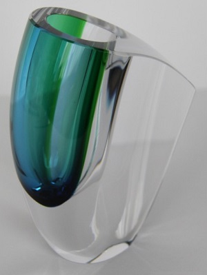 Mirage Vase Green Blue Small