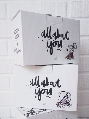 All about you Love You Allglas Rosa 2-pack - Kosta Boda