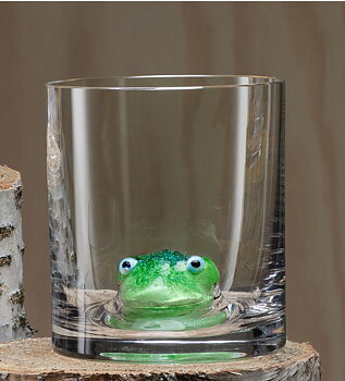 New Friends OF Frog  Whiskey glass