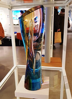 Rainbow Sculpture Red Yellow Blue