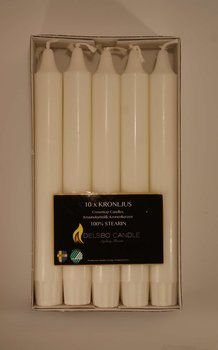 Kronljus 10 pack Delsbo Candle Vit