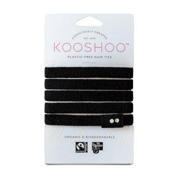 Hårsnodd Kooshoo svart 5-pack