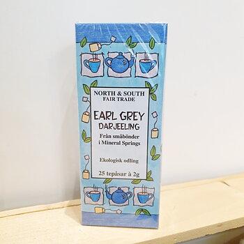 Svart te Darjeeling Earl Grey ekologiskt påste 50 g