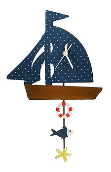 Väggklocka återbruk segelbåt