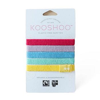 Hårsnodd Kooshoo regnbåge 5-pack