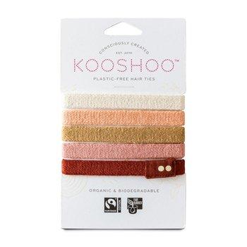 Hårsnodd Kooshoo ginger 5-pack