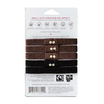 Hårsnodd Kooshoo svart/brun 5-pack