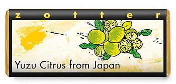 Choklad Zotter Yuzu Citrus från Japan 70 g