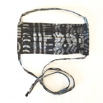 Munskydd tyg ekologisk bomull svart och grå
