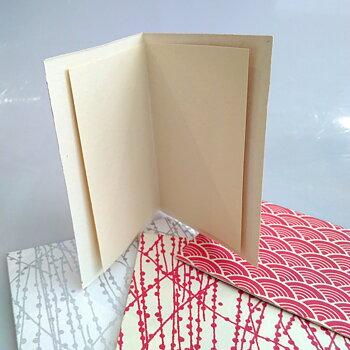 Dubbelt kort med kuvert vita vågor