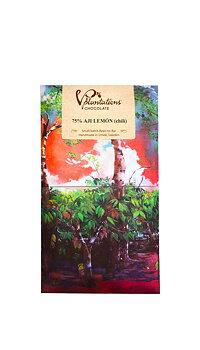 Vintage Plantations mörk choklad 75% piri-piri