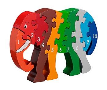 Pussel elefant 1-10 Lanka Kade