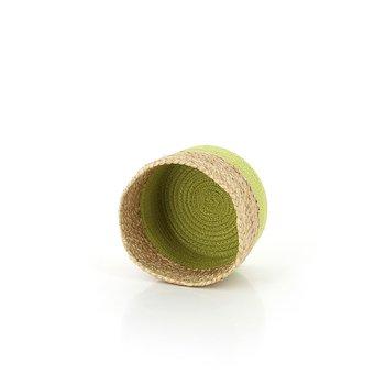 Korg Peanut jute/bomull S limegrön