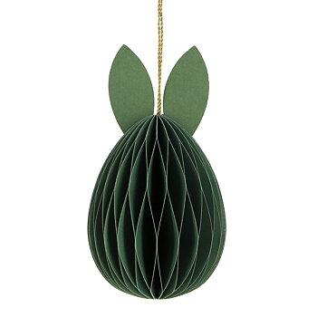 Påskpynt ägg i papper öron grön