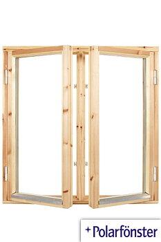2-luft 2-glas Utåtgående Träfönster Obehandlat