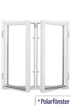 2-luft 2-glas Utåtgående Träfönster vit