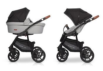 Euro-Cart  Passo  3-in-One Duokombi 2021 med bilstol  Art 1000-A Svart/grå  Finns  även i flera andra pastell färger ) med Bilstol.  Omgående leverans i svart grå. Övriga färger Beställnings vara !  Köp gärna på Klarna