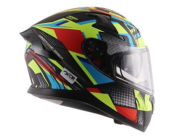 MC motorcykel integralhjälm Apex Vivid