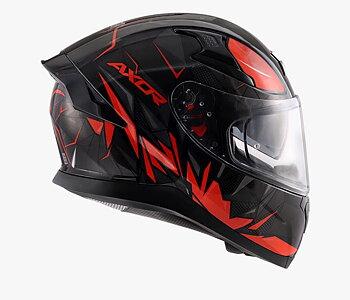 MC motorcykel integralhjälm Apex Hunter röd