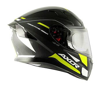 MC motorcykel integralhjälm Apex turbin black green