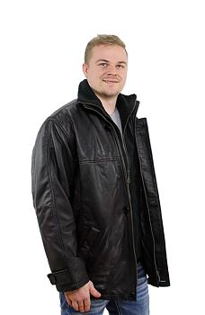 Timmy Antikbrun, Herr skinnjacka klassisk längre modell. (storsäljare)
