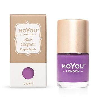 MoYou London Stamping Nail Polish - Purple Punch (9ml)