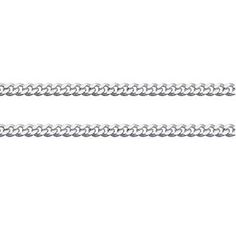 Pansar silverkedja 60cm