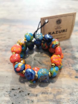 Kazuri - fairtrade armband - Crazy Parrot