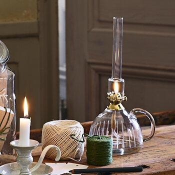 Strömshaga - Fotogenlampa klarglas rund