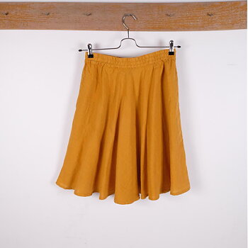 Yellow - linen skirt