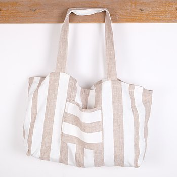Natur white stripe - bag