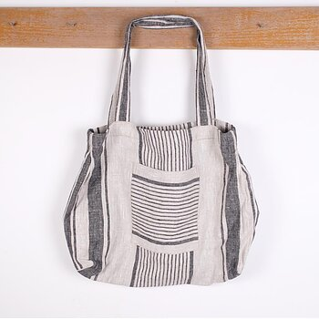 Black natur stripe - bag