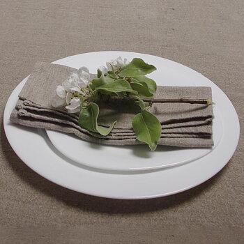 Natural  - napkin -  washed